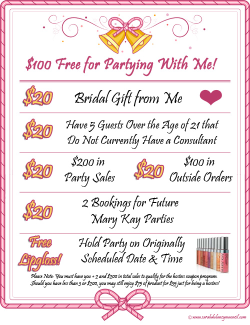 Mary Kay Bridal Sales Flyer