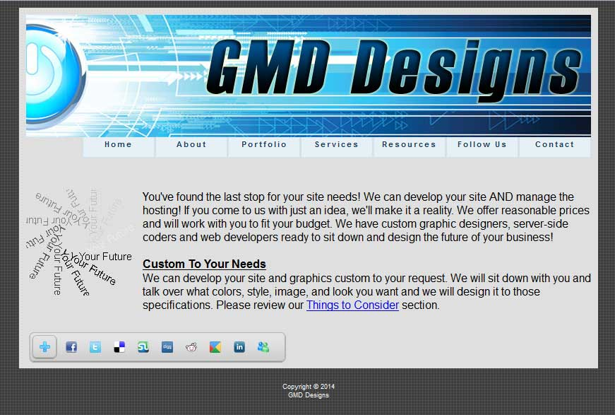 GMD Designs Website